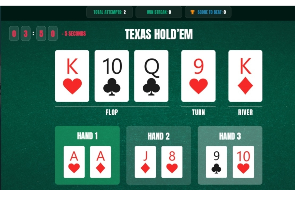 JUST LAUNCHED… Interactive Texas Hold'em Poker Quiz: Which hand wins? |  Recent Slot Releases, fresh industry news